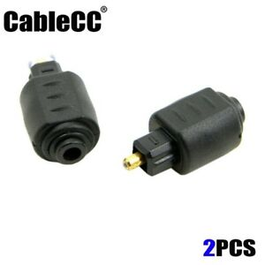 Cablecc-Optical-Toslink-Male-to-Mini-3-5mm-Toslink-Female-Audio-Adapter-2pcs-lot