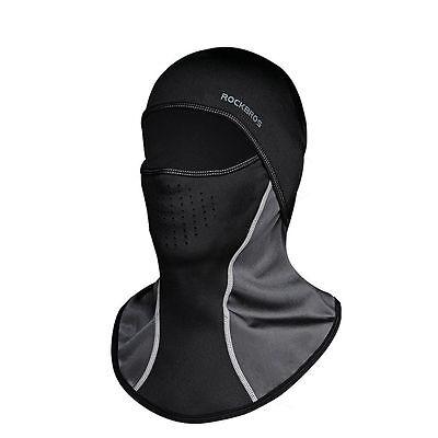 RockBros Cycling Masked Cap Windproof Anti-fog Outdoor Thermal Headwear Black