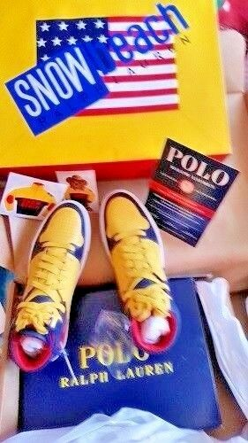 RALPH LAUREN POLO SNOW BEACH SNEAKERS SIZE 9.5 NEW ARRIVAL WITH BAG
