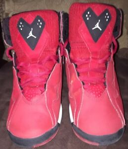2732adea2b6 Nike Air Jordan 7 Retro VII True Flight BG Red Black Sz 6Y | eBay