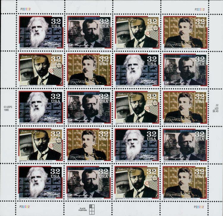 1996 32c Pioneers of Communication, Sheet of 20 Scott 3