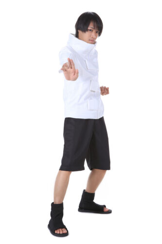 Naruto Shippuden Hidden Cosplay Costume Leaf Genin Hyuga Neji Outfit 1st Ver Set