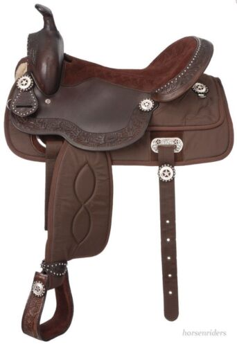 Krypton//Leather//Silver Brown King Series 15 Inch Western Trail Saddle