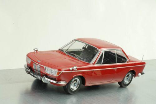 1965//1970 bmw 2000 CS coupé Karmann//oscuro rojo 1:18 KK scale DIECAST