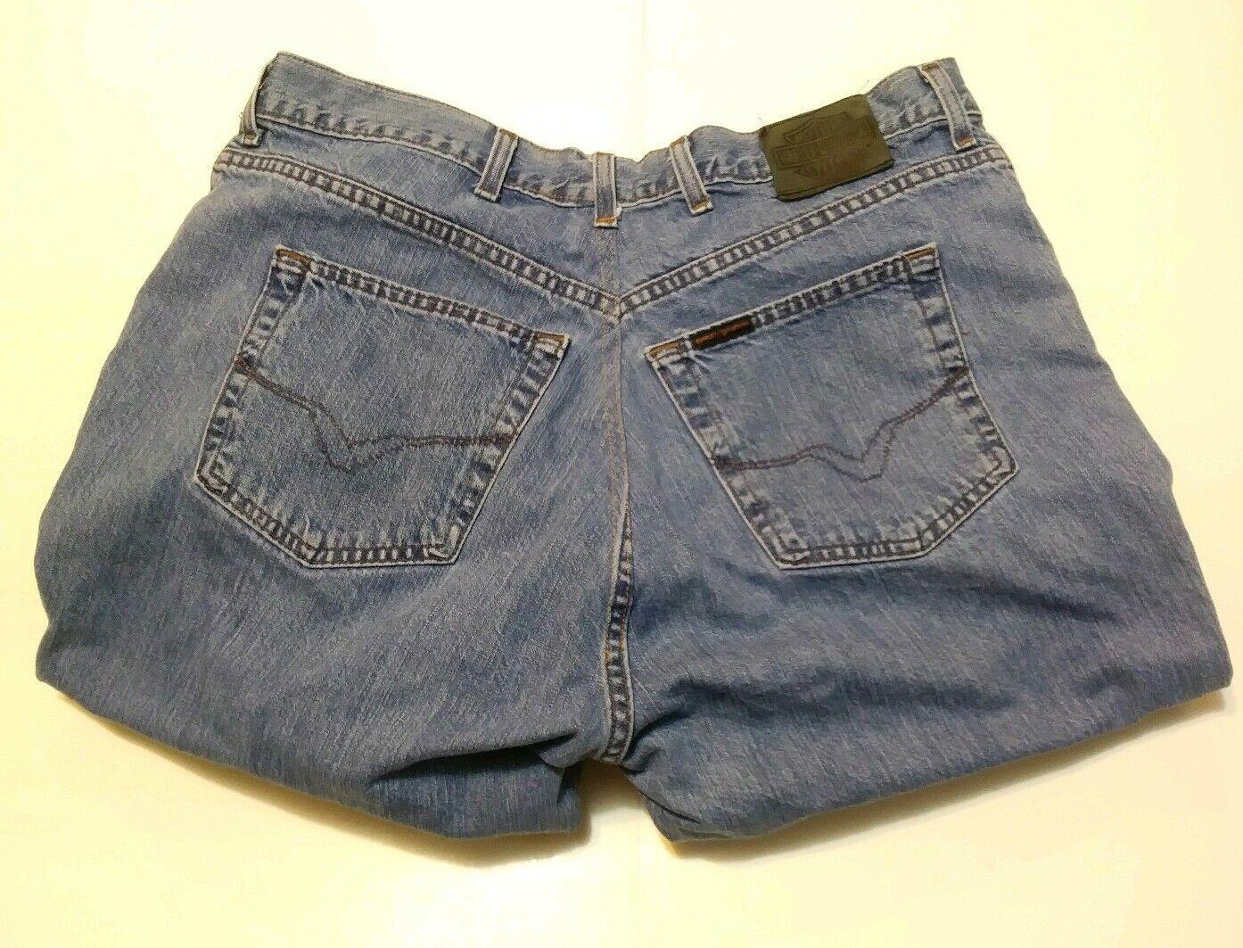 HARLEY - DAVIDSON Mens Denim Jeans  tag SZ 42   30 Msrd 39 W   26 L