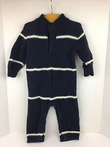 d9e061843053 Baby Gap Boys Sweater One Piece 12 18 Months Blue White Stripe Cable ...