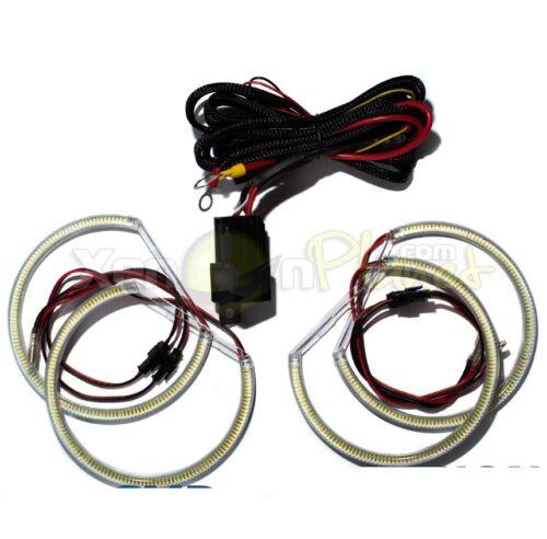 BMW E36 E46 M3 E38 E39 Angel Eyes 120 SMD LED Halo Rings Head Light Kit White