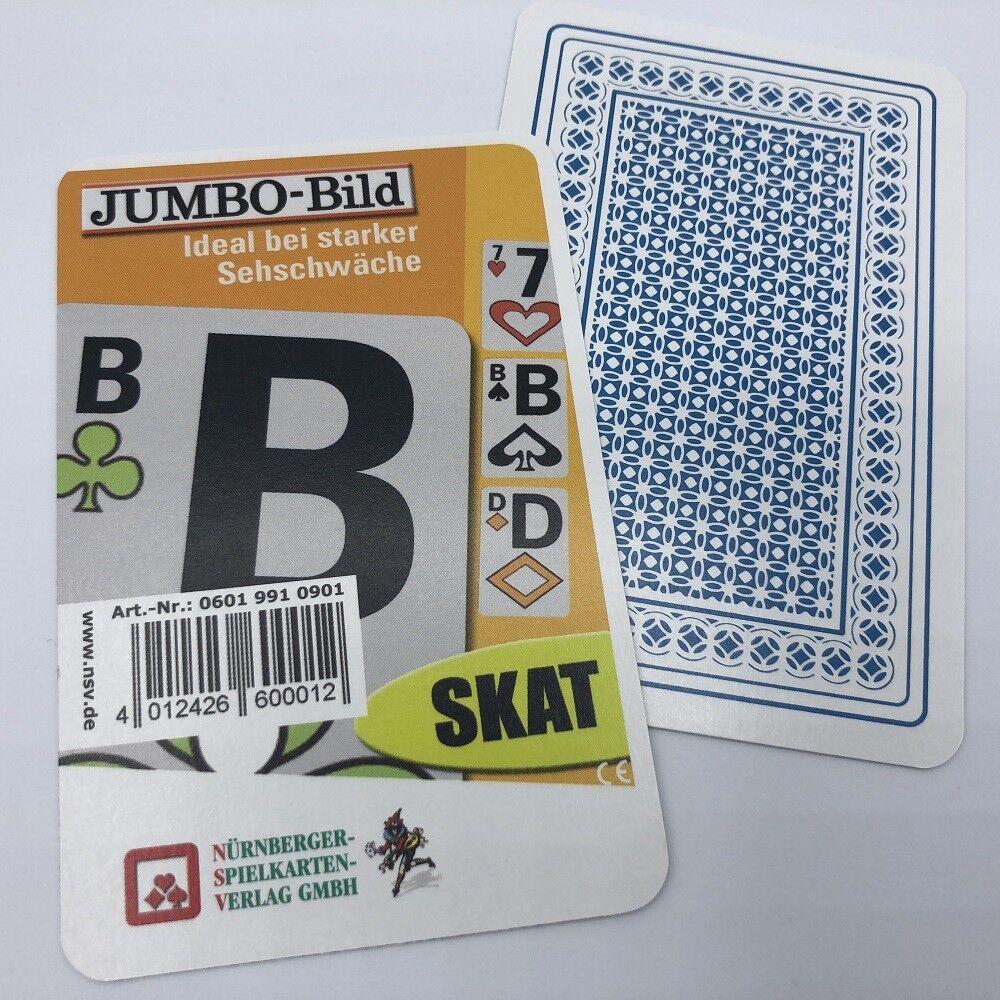 10 Skat Kartenspiele Club Jumbo Bild, Ideal bei Sehschwäche, Spielkarten Frobis