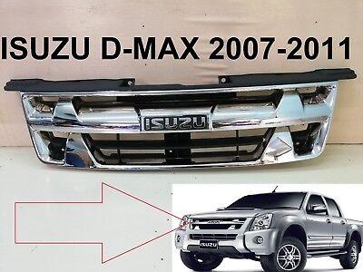ISUZU D-Max RODEO MU-7 Color MATT MATTE Black Front Grille Grill PARTS 2007-2011