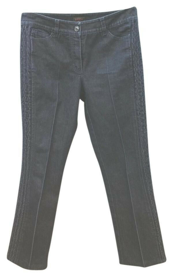 ESCADA DARK blueE STRETCHY COTTON BLEND JEANS 38