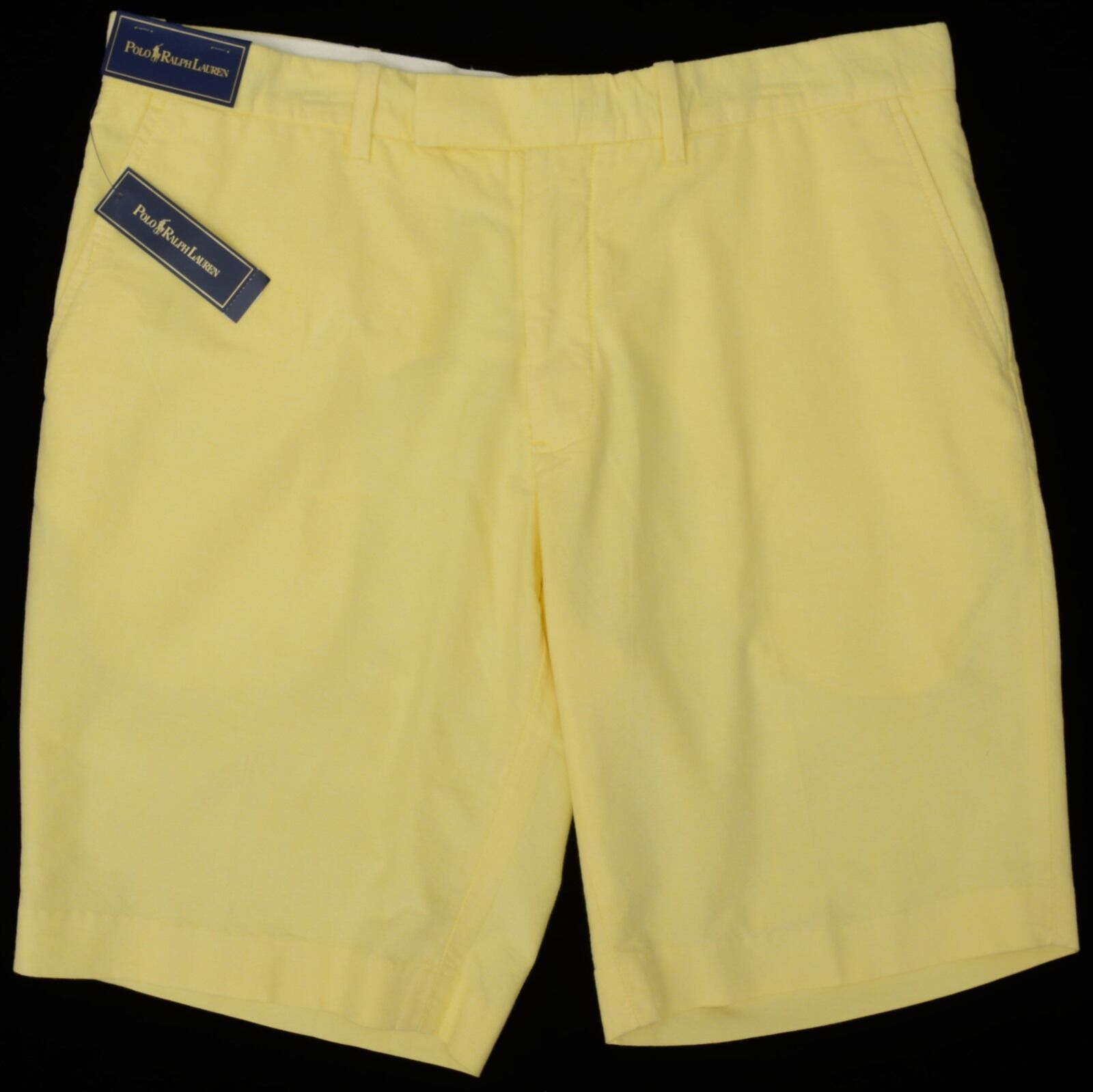 Men's POLO RALPH LAUREN Yellow Oxford Shorts 38 NWT NEW Classic