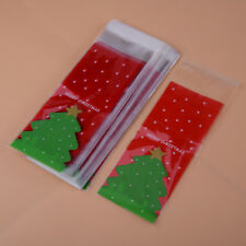 100pcs Christmas Bag Tree Snow Cellophane Gift Cookie Fudge Candy Self Adhesive Party Supplies Home, Furniture & DIY