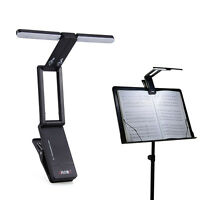 10 LEDs Clip-On Orchestra Music Stand Foldable LED Lamp Light w/ 1200Mah Battery