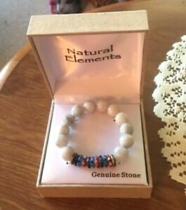 NATURAL-ELEMENTS-GENUINE-STONE-STRETCH-BRACELET-MULTICOLOR-NEW-IN-BOX