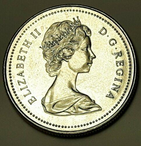 1977 CANADA Half Dollar 50 Cent Coin AU LOW MINTAGE