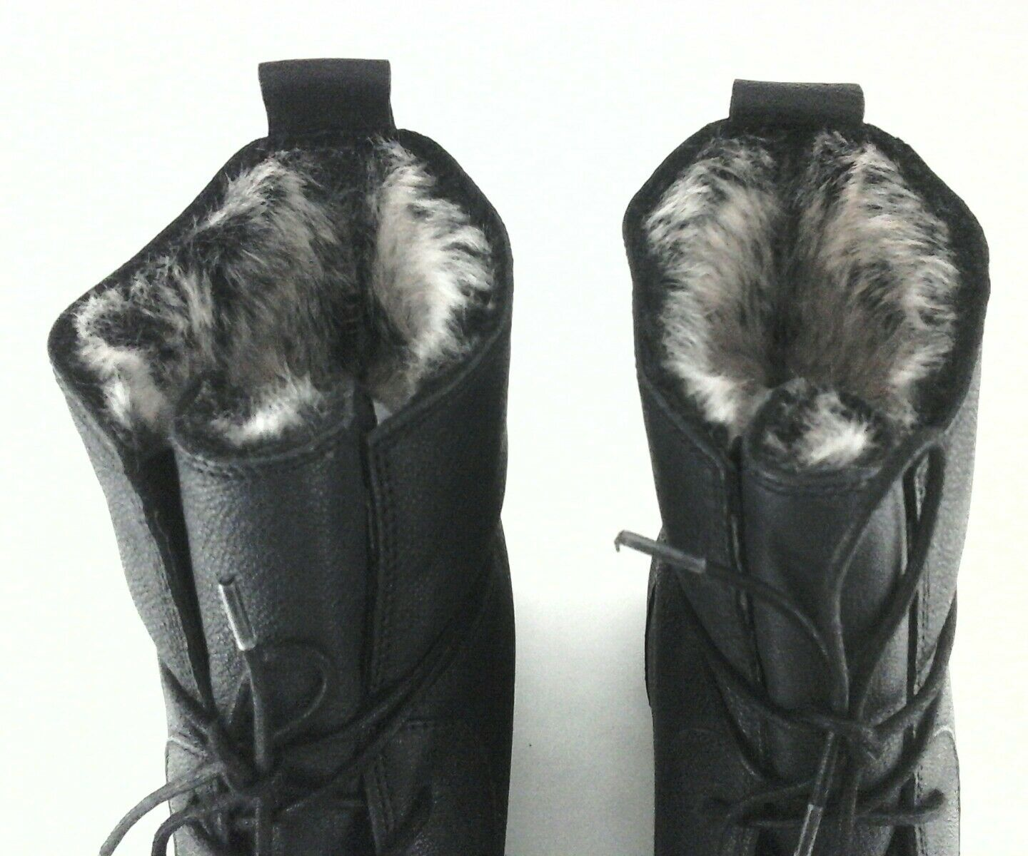 Clarks Minx Judy Damens  Leder Lace schuhes Up Ankle Stiefel schuhes Lace Faux Fur Lining US 10 fd2bb5