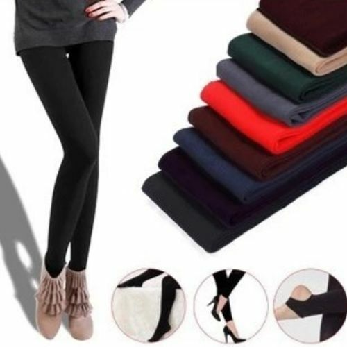 Womens Solid Skinny Opaque Footed Tights Pantyhose Warm Stocking Socks Fashion