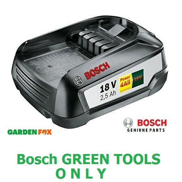 Savers Bosch GrünTOOL 18V 2.5AH Lithium ION Battery 1600A005B0 3165140821629 D