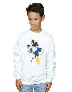 Disney-Princess-Ninos-Snow-White-Apple-Glitter-Camisa-De-Entrenamiento-Blanco