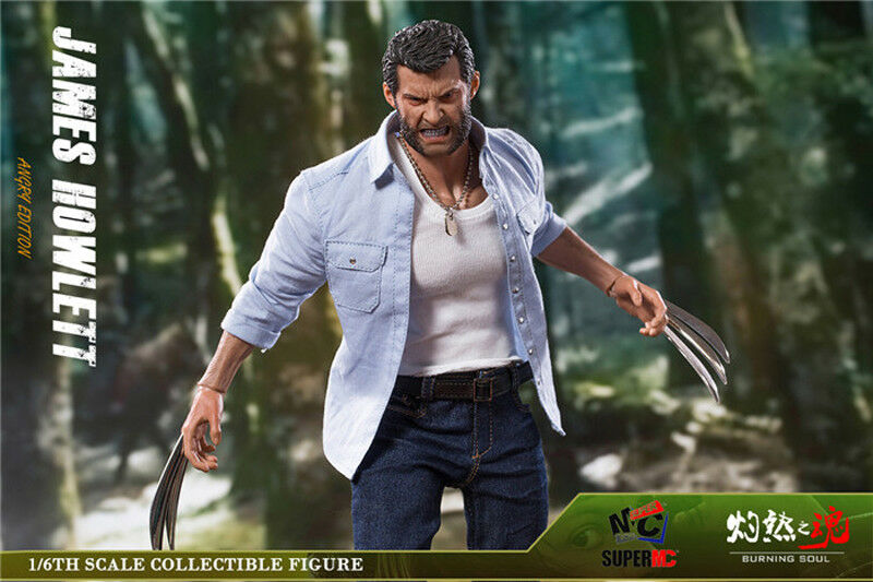 1 6 Scale Logan James James James Howlett Angry Ver. With Special Muscle Body Action Figure ec6764