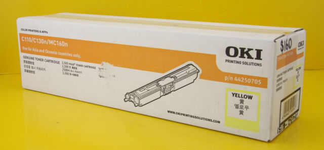 Genuine OKI 44250705 Yellow Toner Cartridge