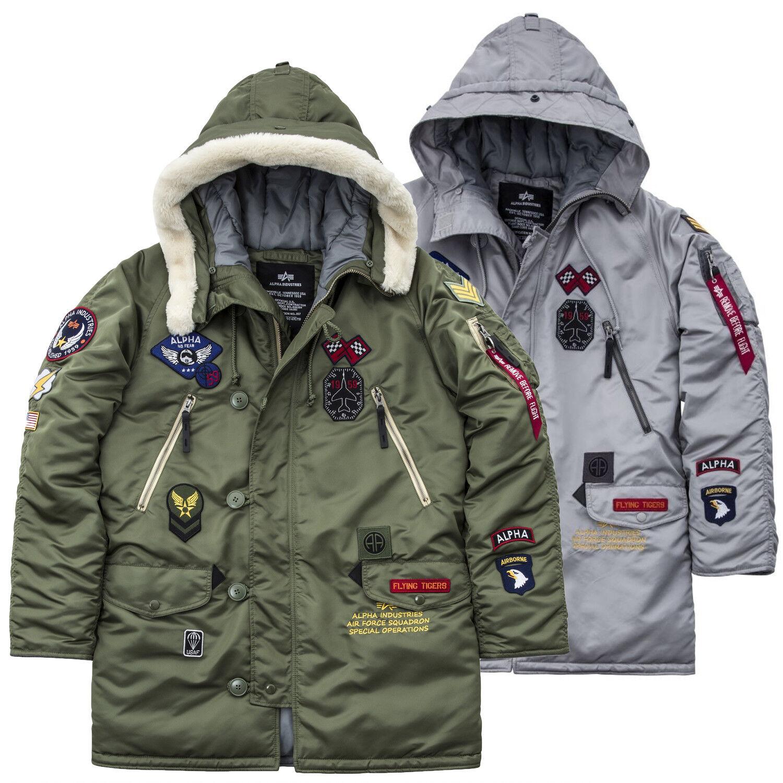 Veste Patch Manteau Industries Hommes S B D'hiver Alpha N3 Doublé CqtT06w