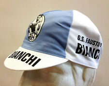 G.S. Fausto Coppi Bianchi Vintage Cycling Cap - Made in Italy by Apis