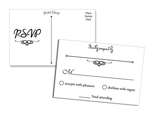 NEW 50 RSVP Postcards FREE SHIPPING