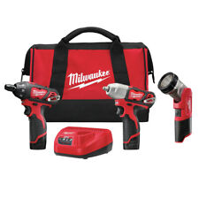 Milwaukee 2491-23 M12 Cordless 3-Tool Combo Kit (1.5 Ah) New
