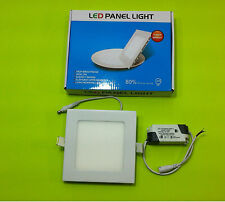 Led Light 9w 4000k Square Recessed Ceiling Panel Down Lights Fixture With Driver