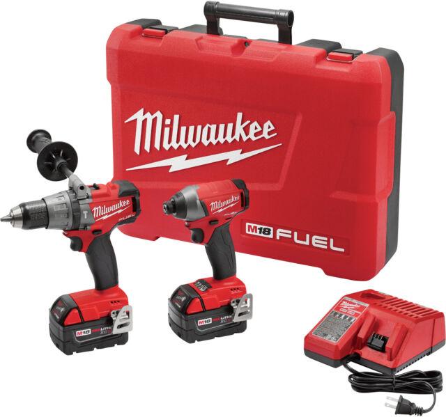 Milwaukee 2897-22 M18 Fuel 2-tool Combo Kit - Hammer Drill / Impact Driver Combo