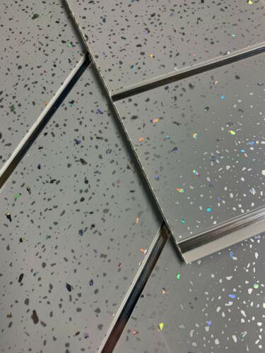 farben tapeten  zubehör grey sparkle chrome strip