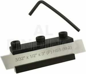 Lathe Parting Cut Off Tool Holder Clamp Type 10mm Shank With HSS Blade 1//2/""
