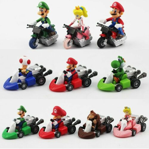 10 Lots Super Mario Kart Mini point de personnages Luigi enfants jouet figurine