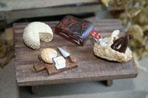 Wurst 4 teilig Krippenbau K-501 Jausenset Käse Miniaturen Krippenzubehör