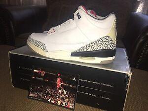 ae6d3d6e5b6 2003 Nike Air Jordan III 3 White/Cement Brand New Size 11.5 WC3 | eBay