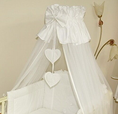 Lovely  CANOPY DRAPE 320cm wide ROD to fit  BABY COT or COTBED +CANOPY HOLDER