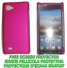 Pellicola+custodia BACK COVER FUCSIA rigida per LG Optimus 4X HD P880