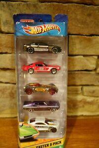 NIB-Hot-Wheels-Diecast-2011-Easter-5-Pack-Target-Edition-V3846-0910