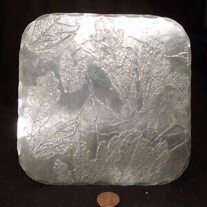 Vintage DePonceau OAK LEAF TRIVET Hand Hammered Aluminum REPOUSSE Arts & Crafts