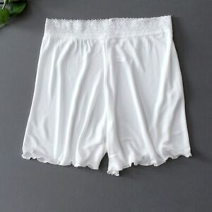 Women Soft Silk Boxer Briefs Sheer Knickers Panties Underwear High Waist Shorts