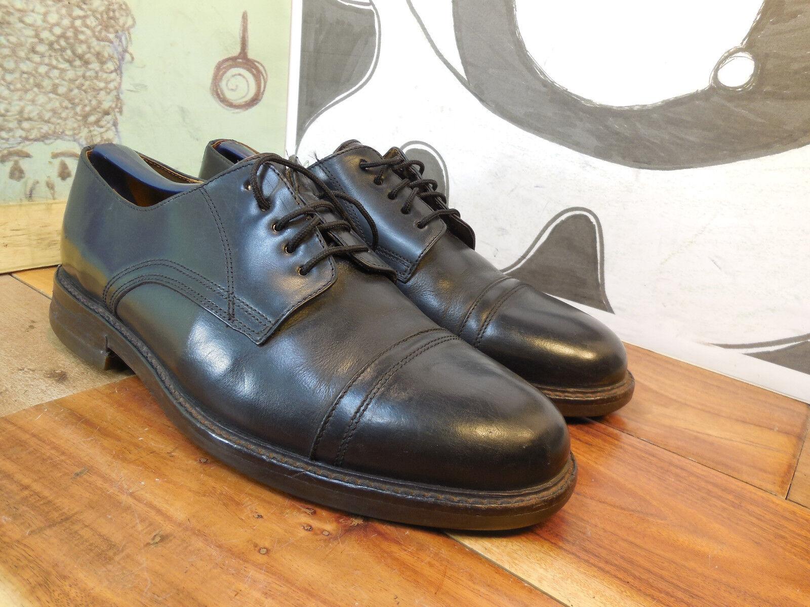 Truly Vintage Black Leather Cap Toe Oxfords Men's (see Euro 42 US 9M (see Men's msmts) 43d6cf