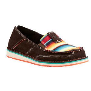 Ariat-Women-039-s-Chocolate-Fudge-With-Serape-Cruiser-Shoes-10021153-SO-COMFY-amp-CUTE