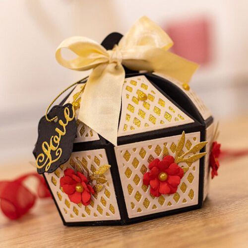 3D Gift Candy Box Metal Cutting Dies Scrapbooking Embossing DIY Stencil Craft