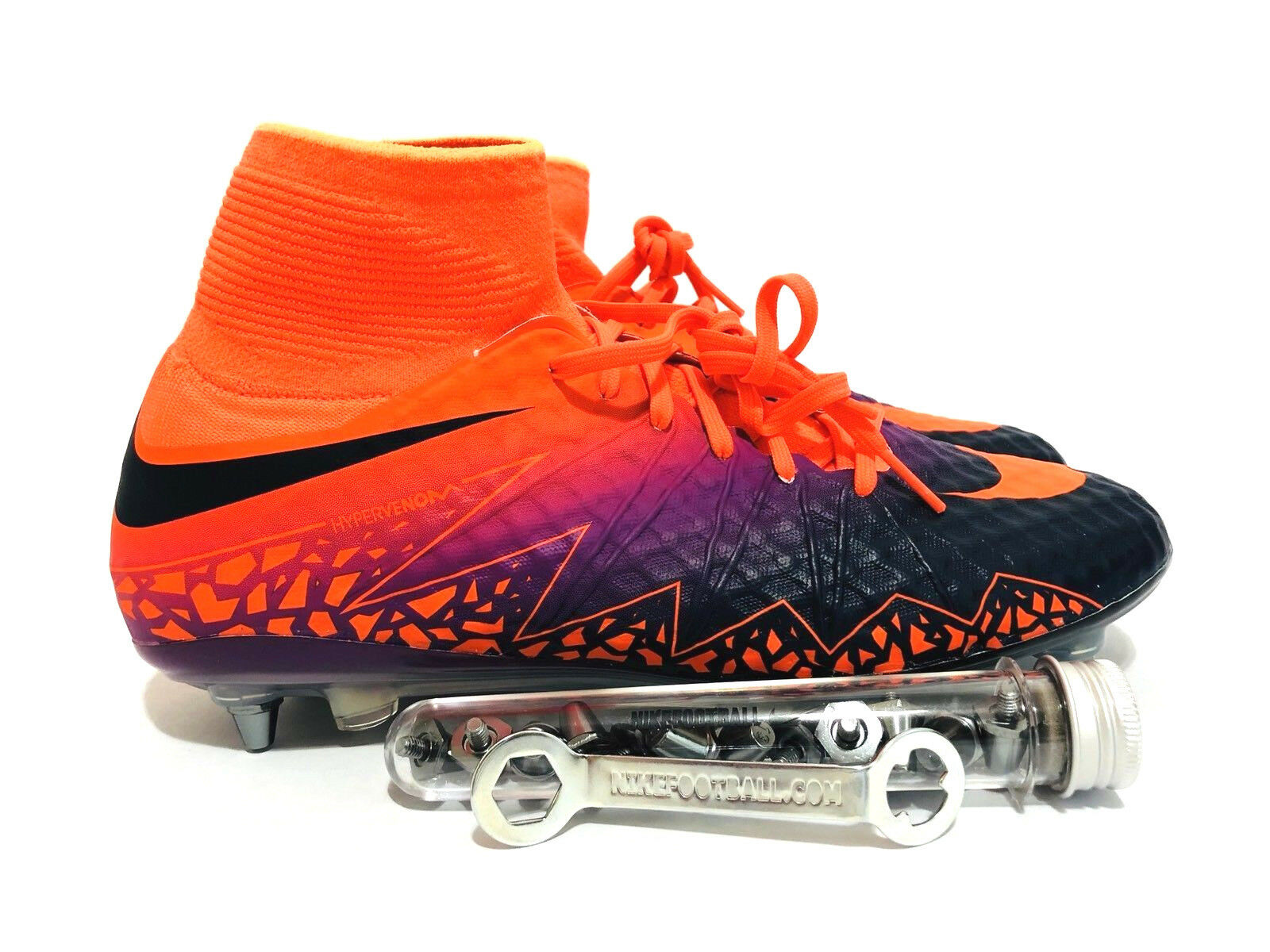 NIKE HYPERVENOM PHANTOM II SG PRO Orange Purple FOOTBALL CLEATS SIZE 10 NEW