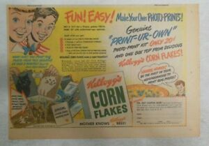 """Kellogg's Cereal Ad: New """"Photo-Prints"""" Premium From 1949 Size: 7 x 10 inches"""
