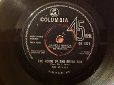THE ANIMALS - 1964 Vinyl 45rpm Single - THE HOUSE OF THE RISING SUN