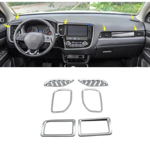 6Pcs ABS Interior Air vent Outlet cover trim For Mitsubishi Outlander 2016-2018