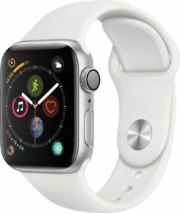Apple-Watch-Gen-4-Series-4-40mm-Silver-Aluminum-White-Sport-Band-MU642LL-A