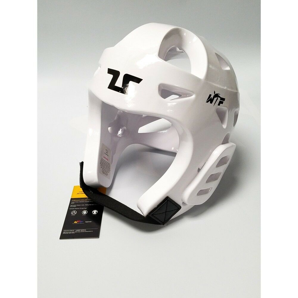 Tusah Taekwondo TKD White Head Guard Predector WTF Approved